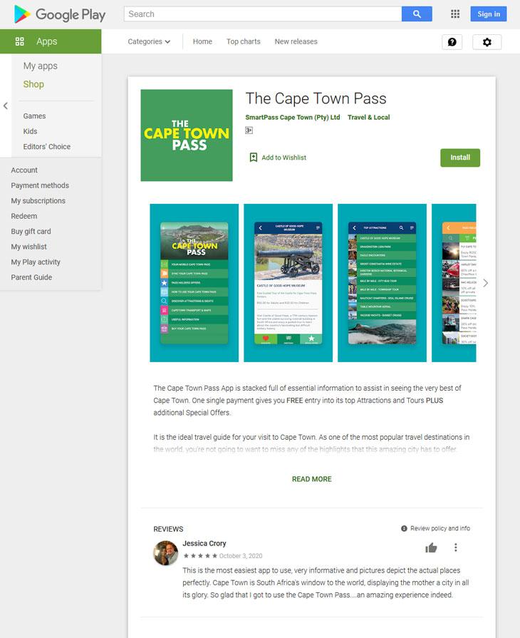 cape town pass app