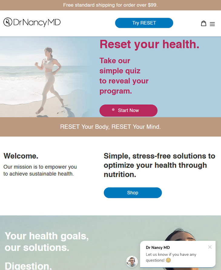 dr nancy website