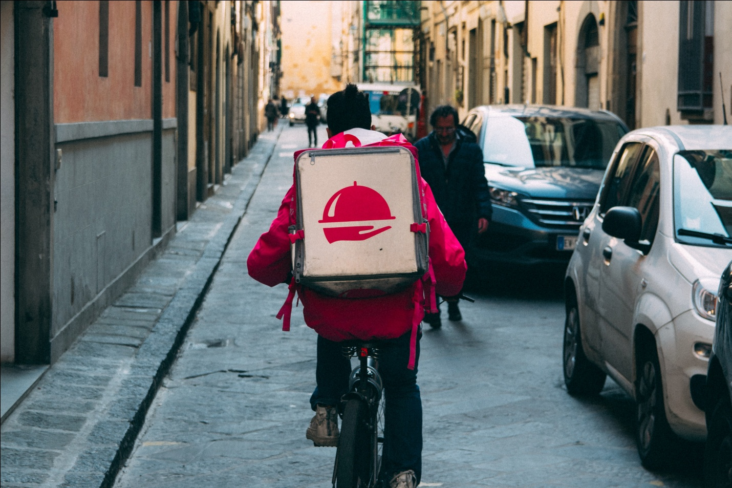 delivery boy on cycle